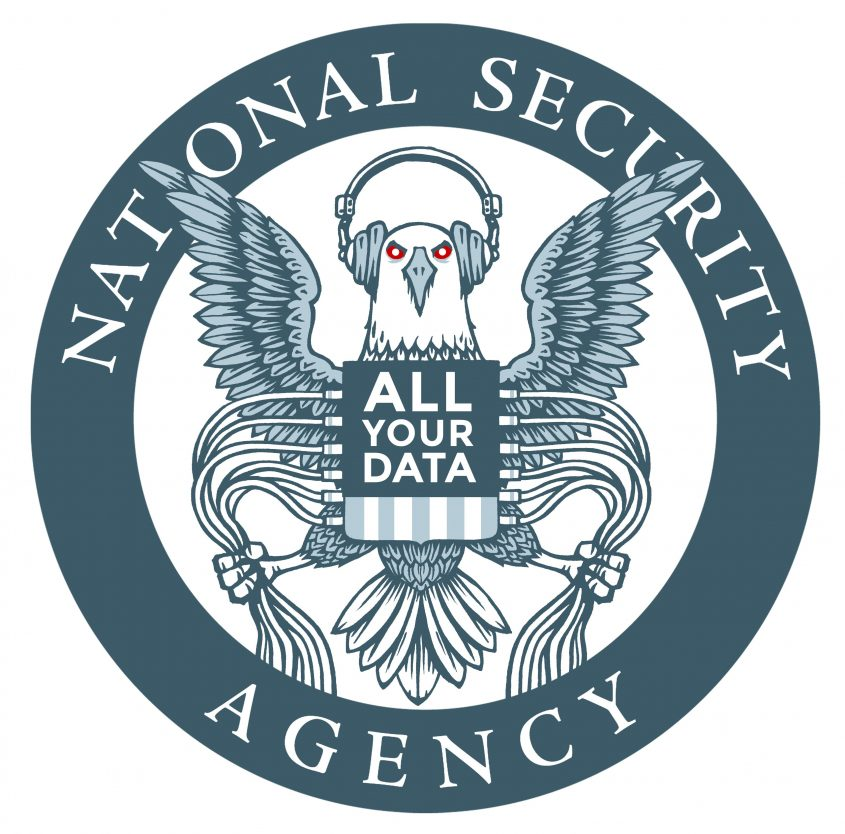 "Bild: ""EFF NSA Logo Parody (white)"" • Picture by Electronic Frontier Foundation (EFF) – CC BY 2.0 • Bildquelle: flickr.com/electronicfrontierfoundation"